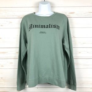 Divided H&M Minimalism Graphic Pullover Sweatshirt